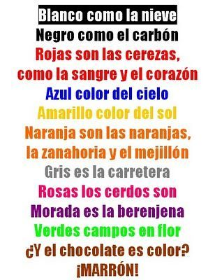 Debbie's Spanish Learning: Poetry in Language Learning