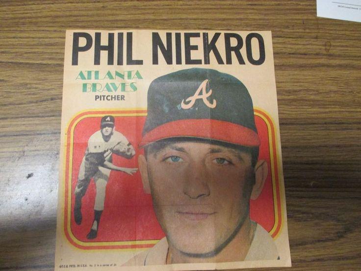 Phil Niekro Paper Poster., T.C.G. PRTD in U.S.A. 2 in a