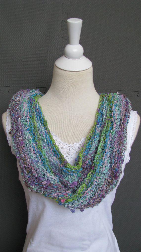Spring Scarf Knitting Pattern : Knit Scarf, Noro Tanabata Yarn, Summer Scarf, Womens To ...