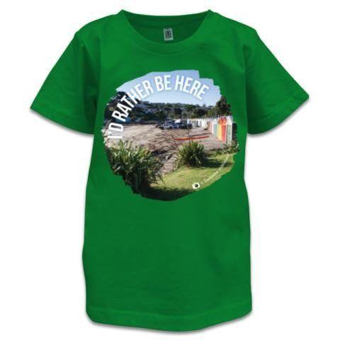 NZ Children's T-Shirt - I'd Rather Be Here - Photo Titahi Bay, NZ