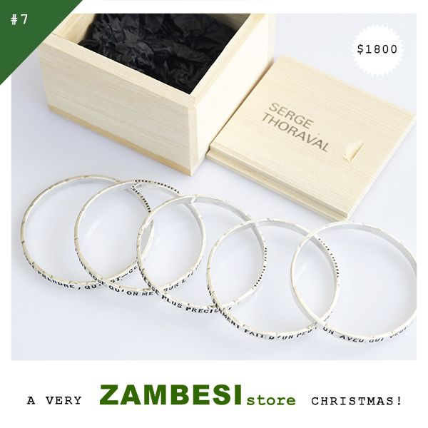 "#7 selected by LaniSays! ""I'd choose the Serge Thoroval bracelet set! Love the wooden box that comes with them too!"" Serge Thoraval '5 rows bracelets' are available in all ZAMBESI stores and online at www.ZAMBESIstore.com x"