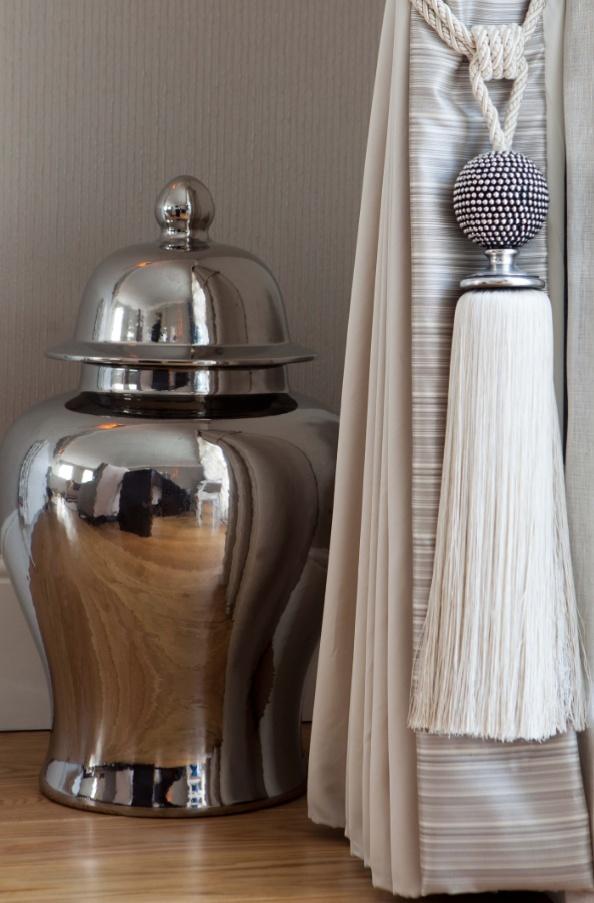 th2 Designs.© Interior design, vase, accessories, curtain tie backs, styling …