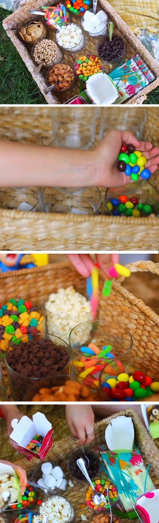 Trail Mix Bar   9 DIY Summer Backyard Party Ideas for Kids that will get the party started!