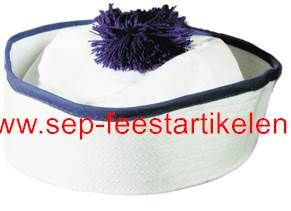 Matrozenmuts blauw-wit (van Peppi en Kokki) direct leverbaar! - SEP Feestartikelen