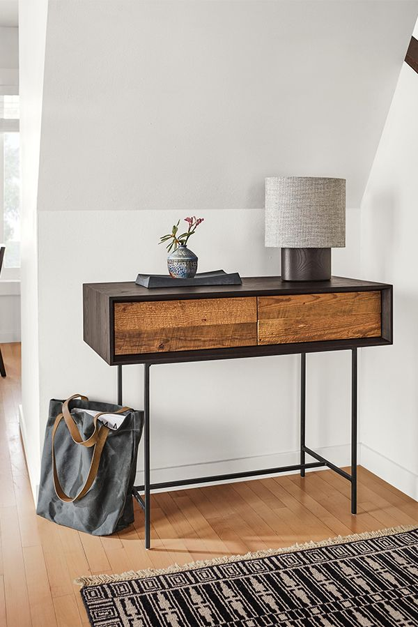 Mckean Console Table With Reclaimed Wood From Vacant Row Houses In Baltimore