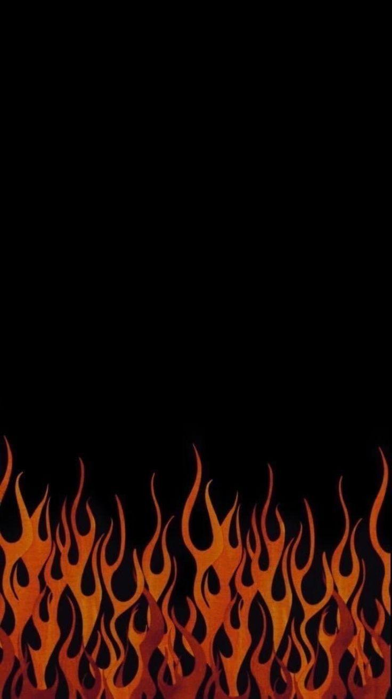#обои #wallpaper #black #черный #огонь в 2020 г ...
