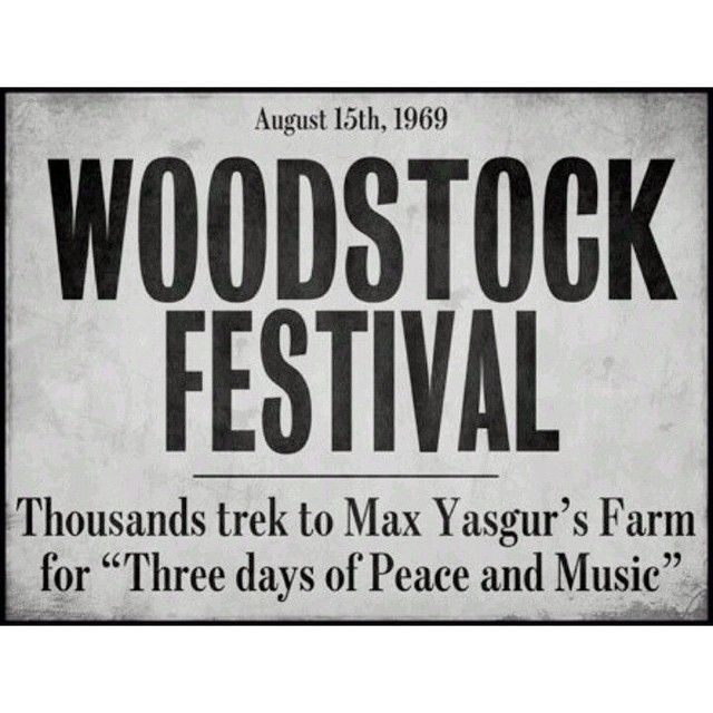 In The Headlines Throwback Woodstock Woodstockfestival