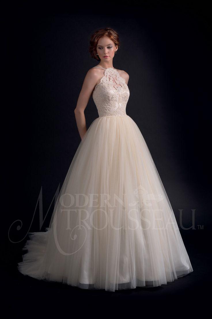 halterneck wedding gown - Modern Trousseau Fall 2016 Wedding Dresses - Adore | itakeyou.co.uk: