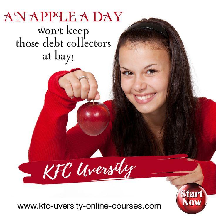 An apple a day wont keep the debt collectors away but