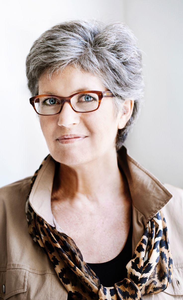 Eyeglass Frames For Gray Hair : 190 best Short Hair & Glasses images on Pinterest