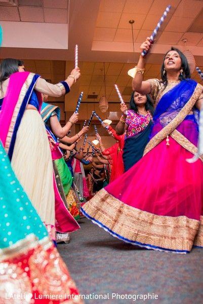 Traditional garba dance. http://www.maharaniweddings.com/gallery/photo/107486