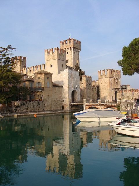 The Scaliger Castle, Sirmione, Lake Garda, Italy WHAT YHE HELL all I am seeing in Pinterest today is places I have been! Truly beautiful!