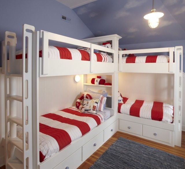 Pin By Jennifer Goins On Boys Bedroom Corner Bunk Beds