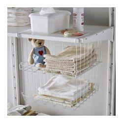 IKEA - OBSERVATÖR, Hängekorb, Um zusätzlich Platz zu schaffen, können mehrere Körbe untereinander in ein Regal gehängt oder auf ebener Fläche gestapelt werden.