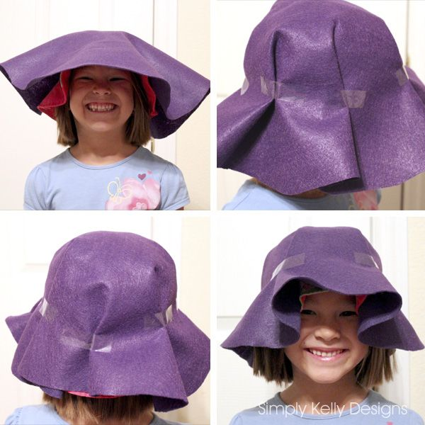 Felt Scarecrow Hat Tutorial by Simply Kelly Designs would work for the glass block.