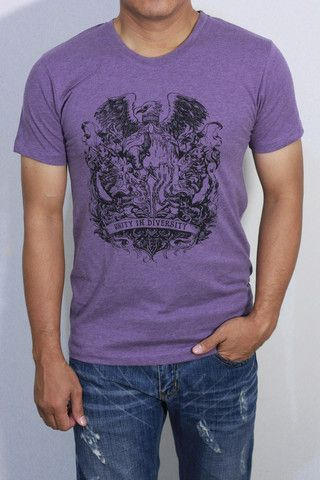 Coat of Arms Silhouette T-Shirt – Red White1945