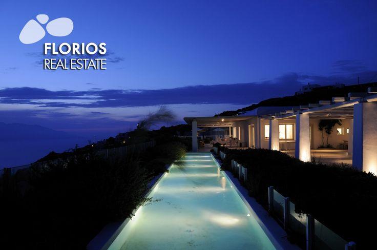 2 swimming pools & spacious outdoor areas, 1 Helipad, Wine- cellar, Playground, Generator. Luxurious Villa for Sale at Fanari, Mykonos, island Greece. FL1452 http://www.florios.gr/en/mykonos-property/14.html