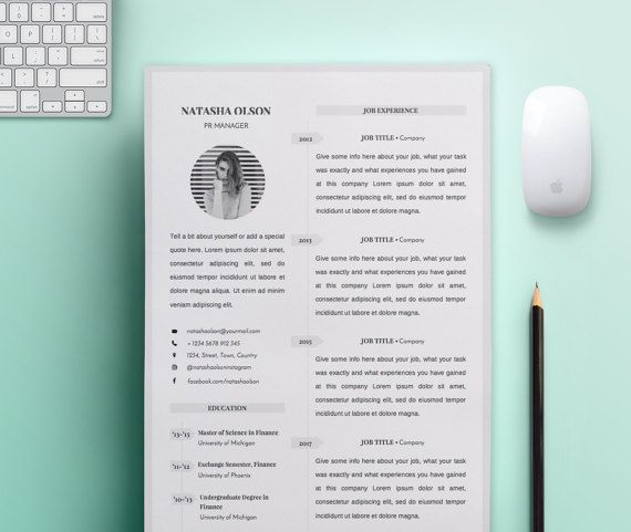 Resume Template  Student & Professional Resume  by LambrosiaShop