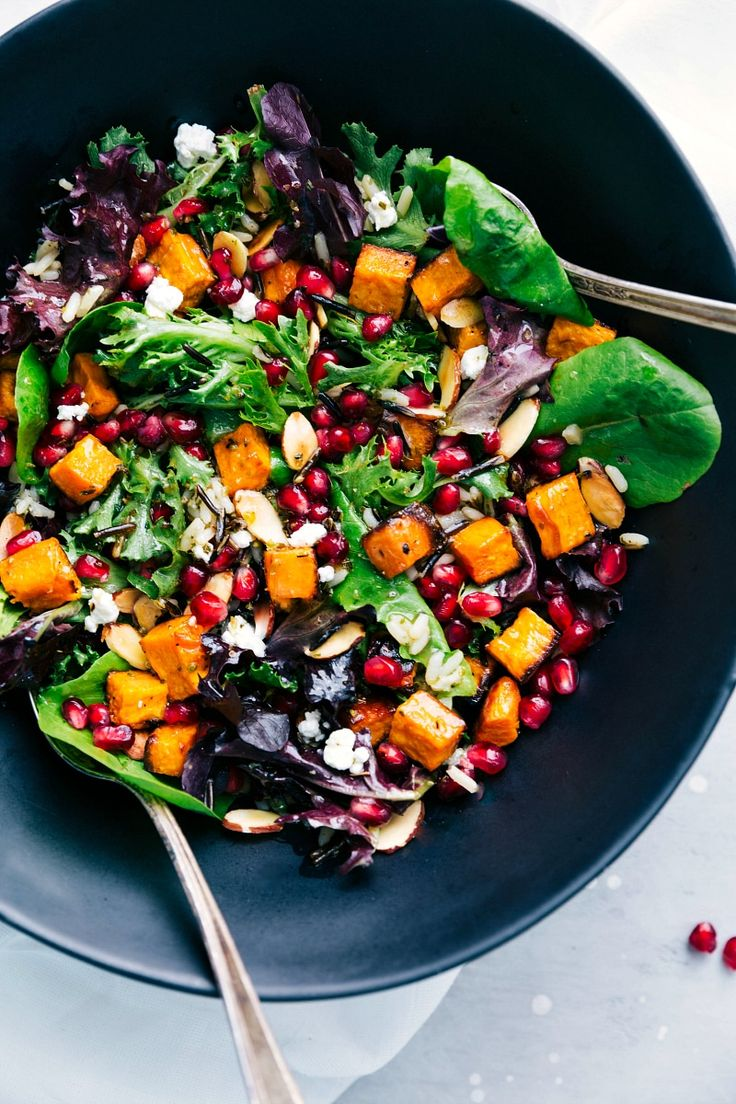 This Pomegranate and Wild Rice Salad is healthy, hearty, and packed with good flavors. A simple lemon honey dressing coats the salad.
