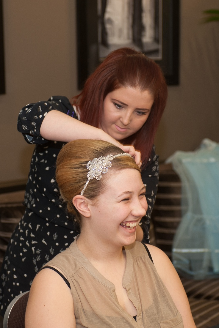 Roisin having her hair beautifully done by Leanne at Ruby Tuesdays, Coventry