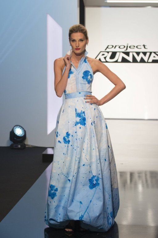 Edmond Newton's winning design for the fifth challenge of Project Runway season 14.
