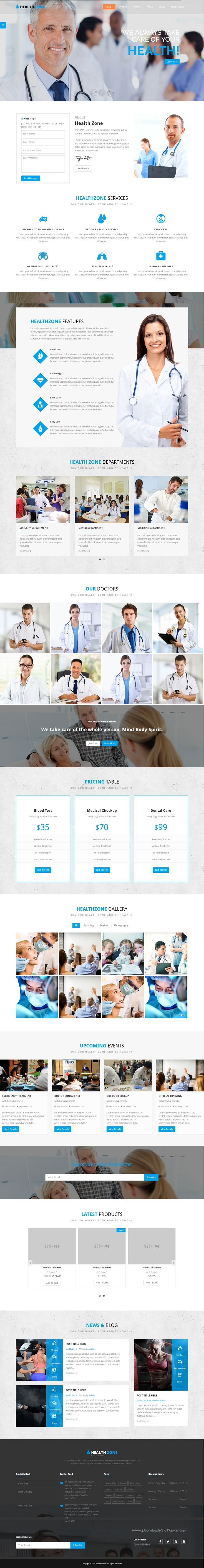 HealthZone is daring Multi Concept Health Bootstrap Template. It comes in stunning 12 Different Categories predefined homepage layouts. Demo #Medical #website