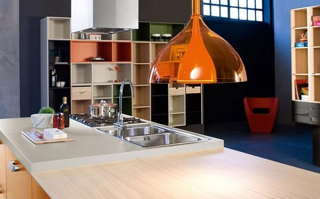 modern kitchen design with modular furniture in contemporary style from italian designers
