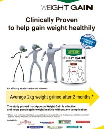 Appeton: WEIGHT GAIN Clinically Proven to help gain weight healthily | Pinoy Best Deals