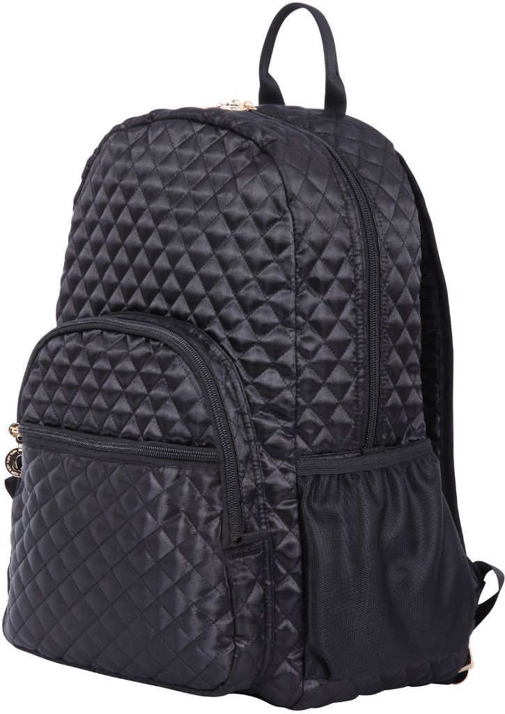 3704b06def0 Quilted Laptop Backpack -Padded Laptop pocket in main compartment and  nicely padded adjustable shoulder straps. Mesh pockets and quilted all  around.