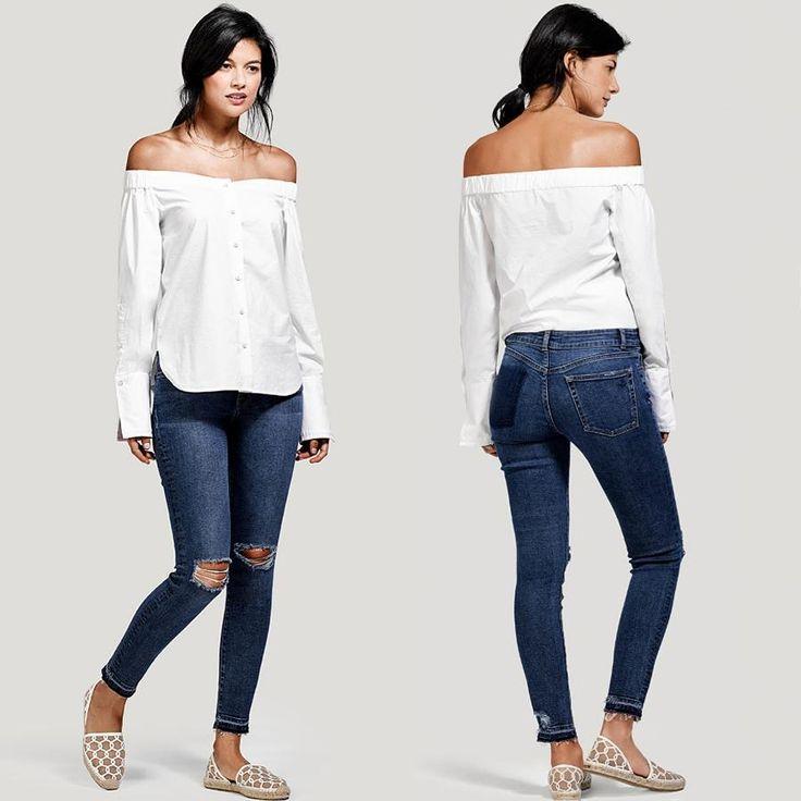 Дизайнеры DL1961 продемонстрировали тонкий вкус создав эту шедевральную пару, в которой рваные детали, и эффект оторванного кармана гармонично сочетались с модным в этом сезоне винтажным низом.❤ #summer #fashion #outfitidea: #stylish & #trendy #destroyed #DL1961 #jeans help create #chic & #comfy #outfit #мода #стиль #тренды #джинсы #модно #стильно #киев #новаяколлекция