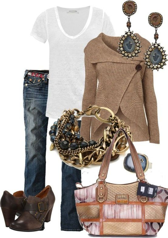 Love the sweater and accessories -- Coach # International women's day