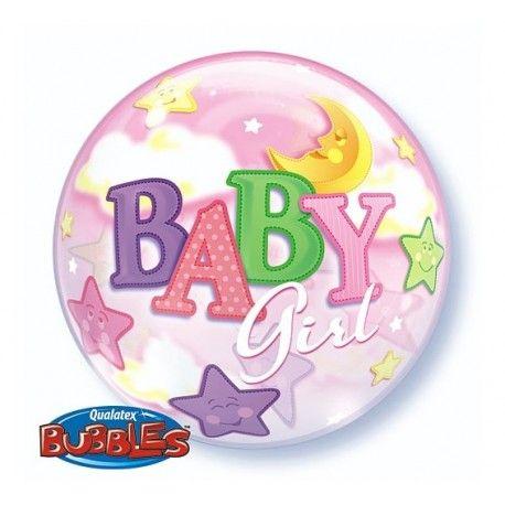 """Witajcie, dziś prosto z Japonii ...  Okrągły jak Piłka Plażowa otoczony kolorowymi gwiazdami i księżycem - Qualatex Balon 22"""" Baby Girl.  Unosi się w powietrzu przez około 2 do 4 tygodni.   UWAGA: nie wysyłamy balonów, jedynie odbiór osobisty w sklepie stacjonarnym w Krakowie na ul. Szwai 14/9U  Ach ta poczta ...   http://www.niczchin.pl/balony-z-helem-dla-dzieci-krakow/3349-qualatex-balon-22-baby-girl-okragly-jak-pilka-plazowa.html  #balonbabygirl #balonyzhelem #balonykraków #niczchin"""