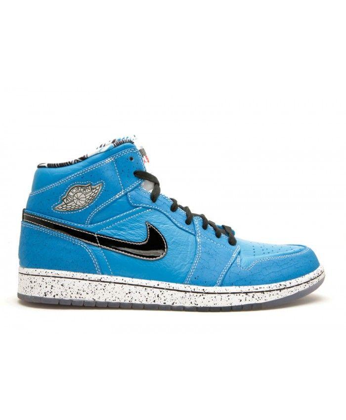 Air Jordan 1 Retro Ruff N Tuff Laser Blue Black White 372389 401