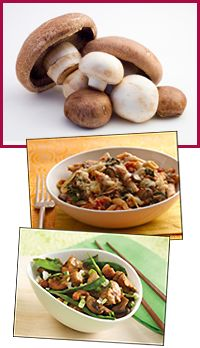 World's Best Food Expanders, Double Your Portions Guilt-Free | Hungry Girl  Why Mushrooms? One large portabella mushroom or a cup of chopped mushrooms has roughly 20 calories, a gram of fiber, and nearly 2g protein. Fungus power!   What Can They Expand? Mushrooms are especially good in meat dishes. The texture and taste work perfectly.