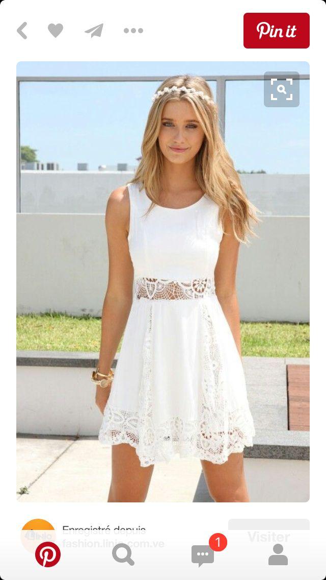 White lovely dress