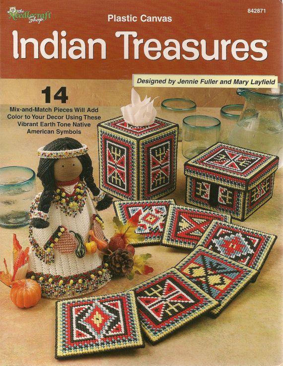 Indian Treasures Plastic Canvas Book by needlecraftsupershop, $9.99