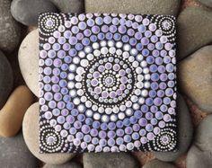 Authentische Kunst der Aborigines Dot, Pastell Sonnenuntergang entwerfen, Australische Aborigines Dot Painting, Biripi Künstler Raechel Saunders, australische Geschenk