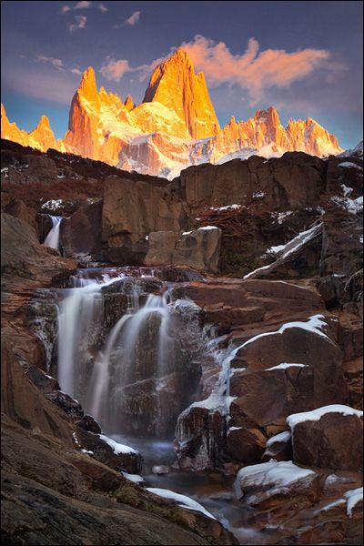 Patagonia.: Mountain, Argentine Patagonia, Argentina Travel, Michael Anderson, Patagonia Argentina, Hidden Fall, Fitzroy Basecamp, Travel Photography, Fall Water