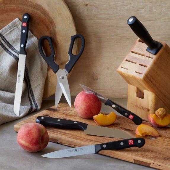 Wüsthof Gourmet 7-Piece Knife Block Set | Williams-Sonoma