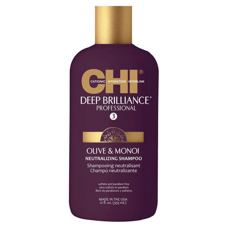 CHI Deep Brilliance Olive & Monoi Neutralizing Shampoon 355ml.