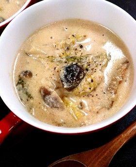 白菜の味噌ミルクスープ