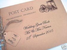 Vintage Carte Postale Mariage Livre d'or personnalisé shabby chic new in box