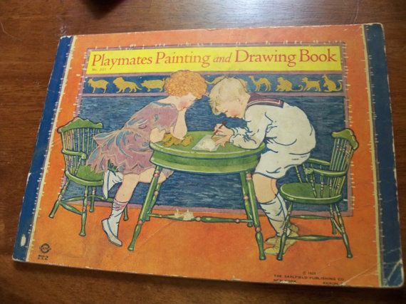 playmates painting and drawing book soft cover  saalfield