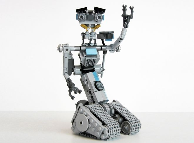 LEGO Ideas - Johnny Five  Please help this person get 10000 supporters for this project. I want this to become a real set!