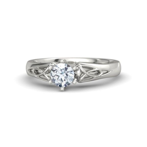Round Diamond 14K White Gold Ring | Fiona Ring | Gemvara Once again, it's all right. But getting better.