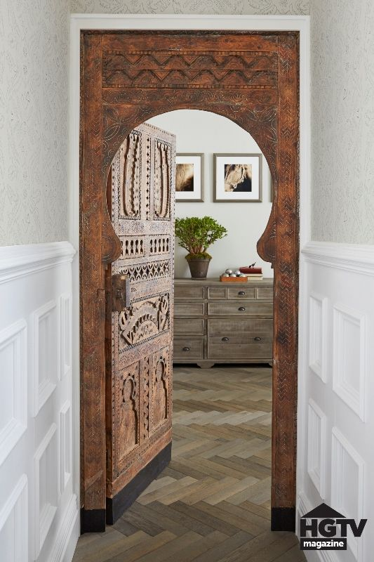 genevieve gorder house renovation | How about this BEAUTIFUL carved Moroccan door?