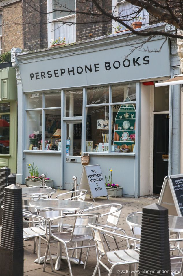Persephone Books, London. From A Lady in London's 7 Specialty Bookstores to Discover in London.