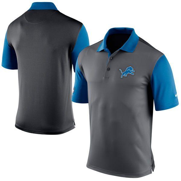 Detroit Lions Nike Preseason Performance Polo - Charcoal - $52.99