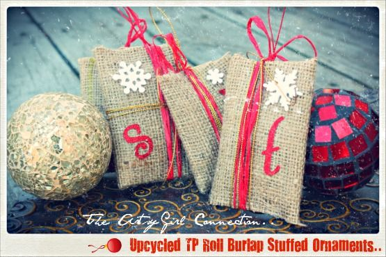 DIY Stuffed Burlap Ornaments