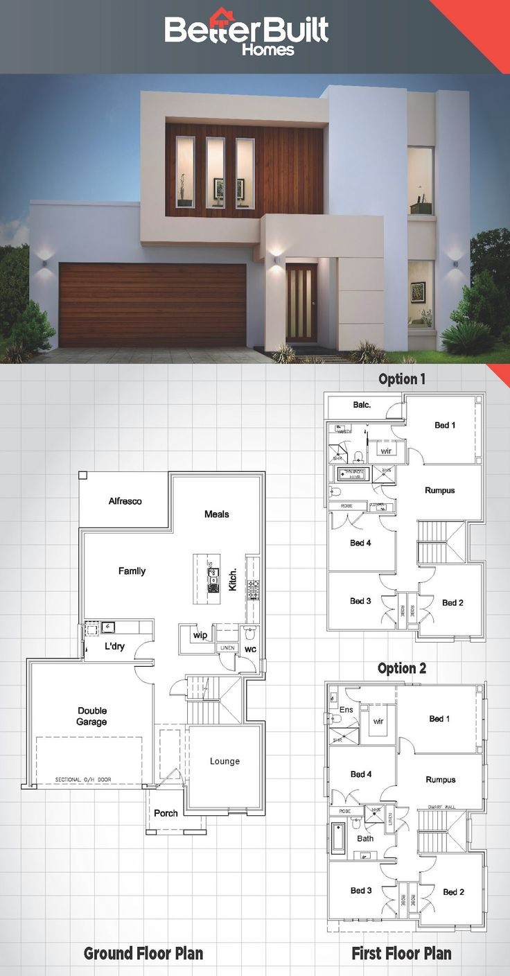 The 25 best ideas about double storey house plans on for 3 storey building design sample